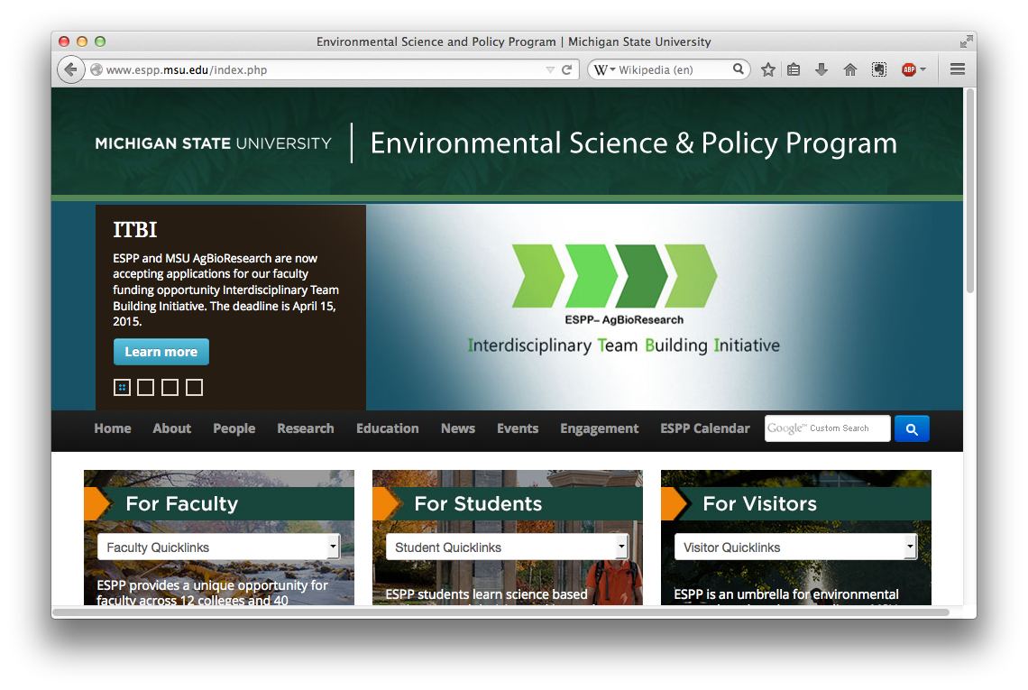 Environmental Science and Policy Program