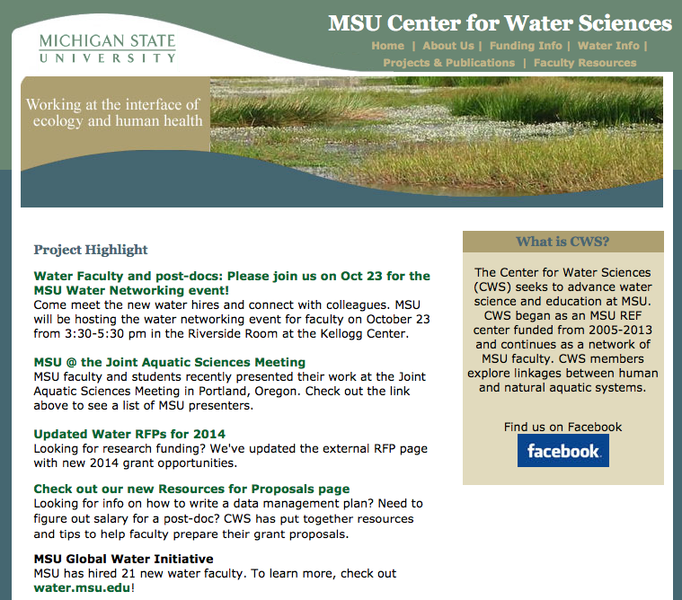 Center for Water Sciences