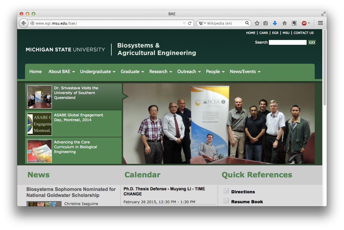 Biosystems and Agricultural Engineering