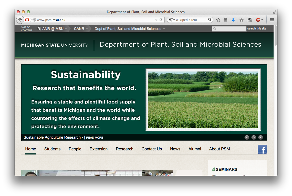 Plant, Soil and Microbial Sciences