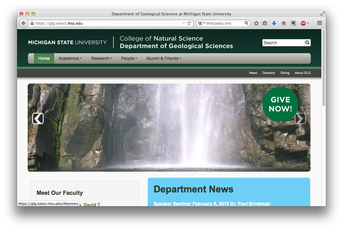 Geological Sciences