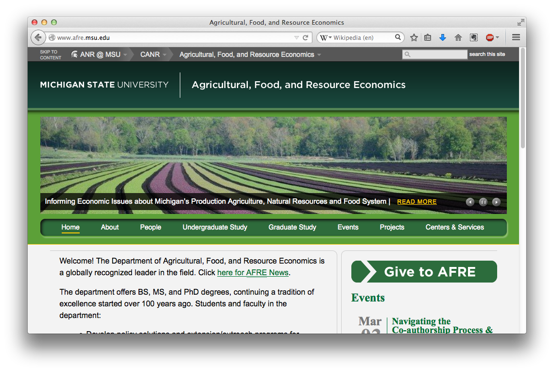 Agriculture, Food and Resource Economics