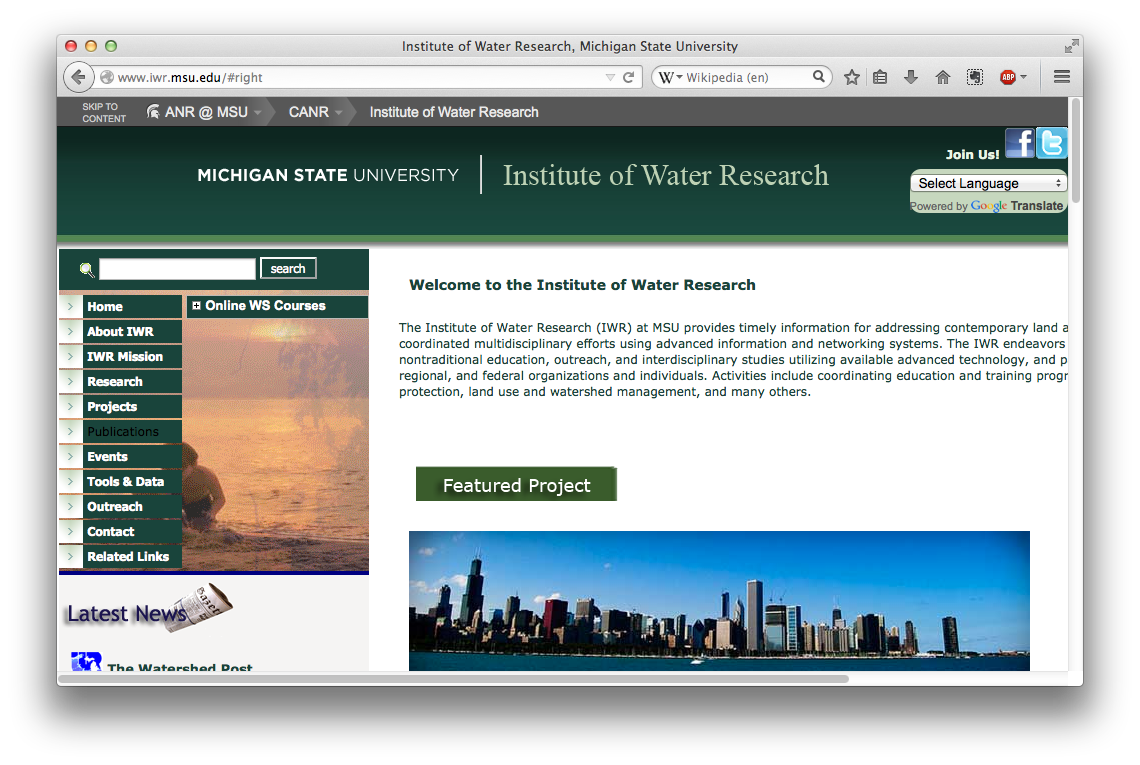 Institute of Water Research