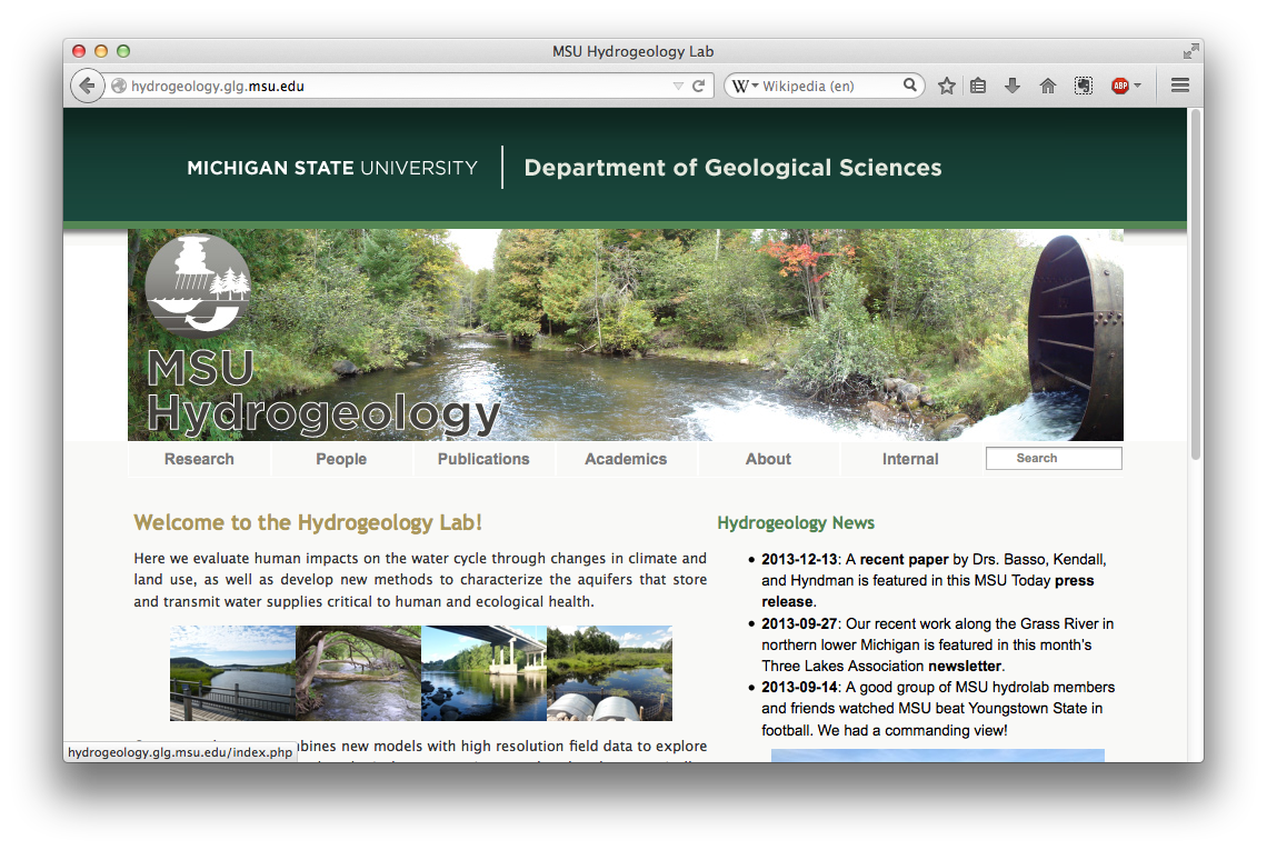 Department of Geological Sciences