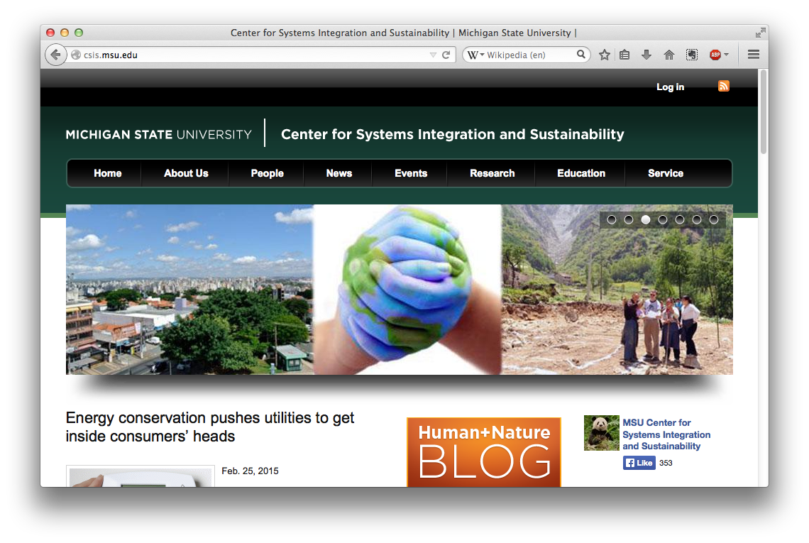 Center for Systems Integration and Sustainability