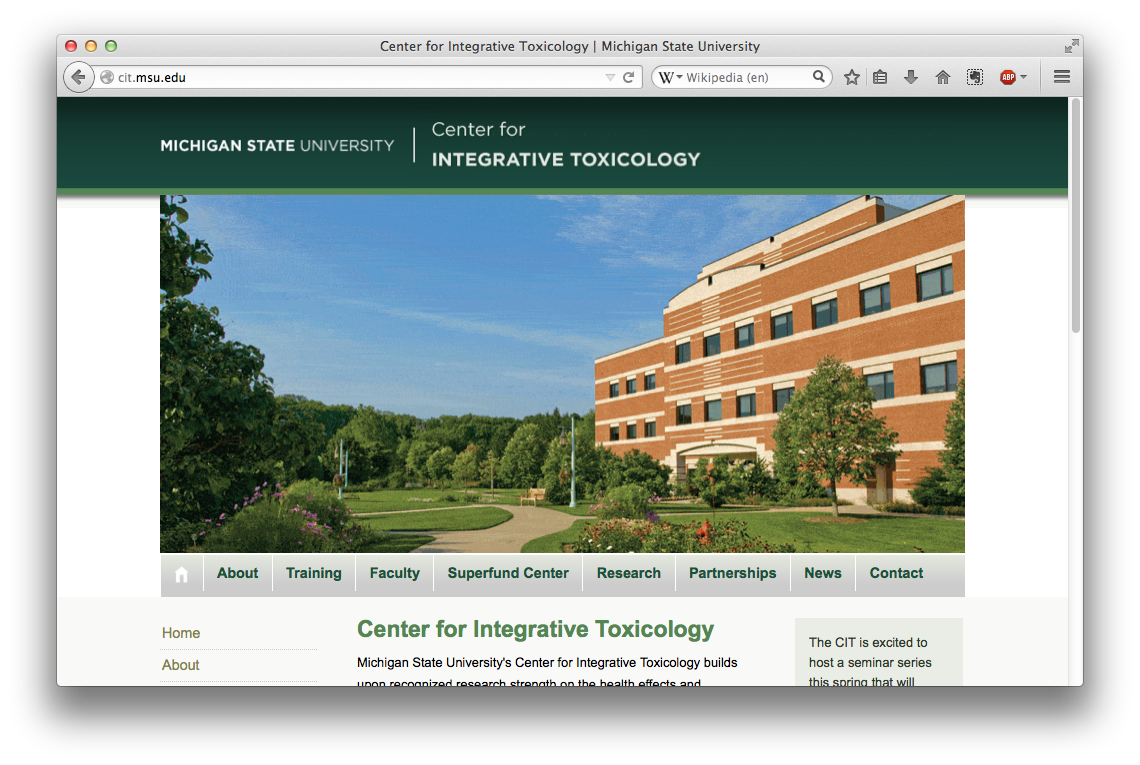 Center for Integrative Toxicology